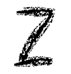 Z Brushed vector image