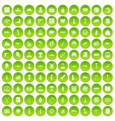 100 war icons set green circle vector