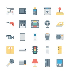 Electronics Colored Icons 2 vector image