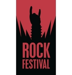 Hand in rock n roll sign vector