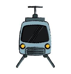 Drawing tram travel public transport urban vector