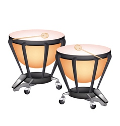 Two beautiful classical timpani vector
