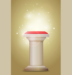 Light bronze column pedestal vector