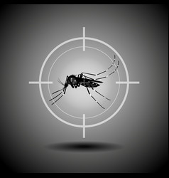 Kill mosquito flat icon designlogo vector