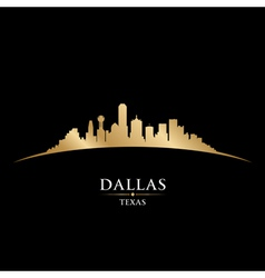 Dallas Texas city skyline silhouette vector image