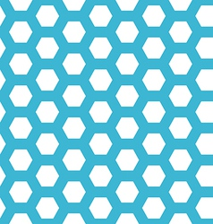 seamless blue hexagon pattern vector image
