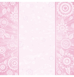 Frame of flower on pink background vector