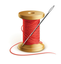Thread and needle vector