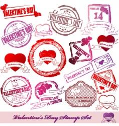 valentine stamps vector image