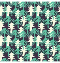 Design seamless pattern with christmas trees vector