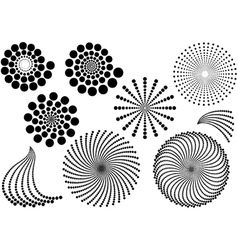 Abstract Dotted Shapes vector image