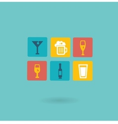 alcoholic drinks icon vector image
