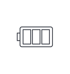 battery charge full thin line icon linear vector image vector image