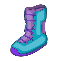 Boot for snowboarding icon cartoon style vector image