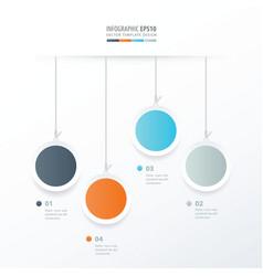 circle hanging concept orange blue gray color vector image