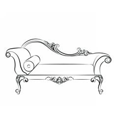 Classic elegant sofa with ornaments vector image