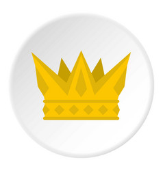 Cog crown icon circle vector