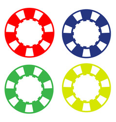 colorful casino poker chip vector image