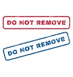 Do not remove rubber stamps vector