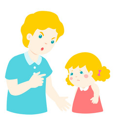 father angry at his daughter and blame herdad vector image