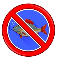 Fishing Prohibited Sign Isolated vector image