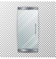 Glass door transparent architectural vector