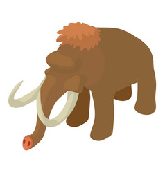 mammoth icon isometric style vector image vector image