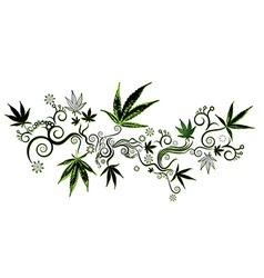 marijuana cannabis green leaf texture background vector image vector image