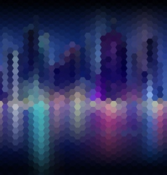 Night city abstract mosaic background vector image vector image