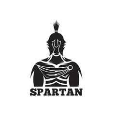 Old vintage antiques spartan warrior design vector