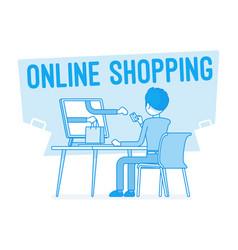 Online shopping service vector
