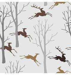 pattern deer forest vector image