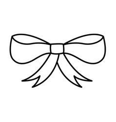 ribbon bow isolated icon vector image