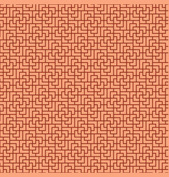 Seamless brick wall pattern in chinese style vector