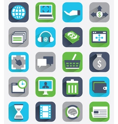 Set of flat analytics and statistics icons vector image vector image