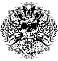 Skull corona rose vector