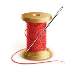 Thread and needle vector