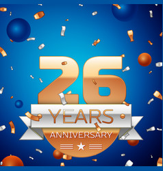 Twenty six years anniversary celebration design vector
