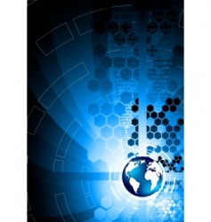vector abstract blue background vector image vector image