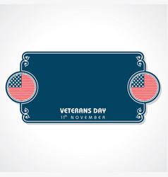 Veterans day greeting vector