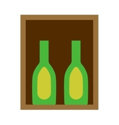 Wine box vector image vector image