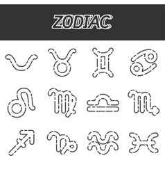 Zodiac icons set vector