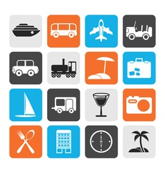 Flat travel transportation tourism and holiday vector