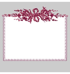 frame bouquet vector image
