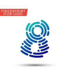 fingerprint font logo icon vector image