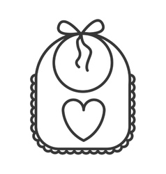 Baby bib icon vector