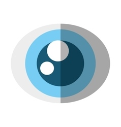 eye view security symbol isolated icon vector image