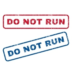 Do not run rubber stamps vector