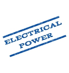 Electrical power watermark stamp vector