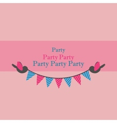 Birds holding bunting for party vector
